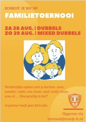 Poster Familietoernooi 2021